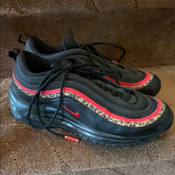 Nike Shoes - Nike Air Max 97 Size 8 black red leopard